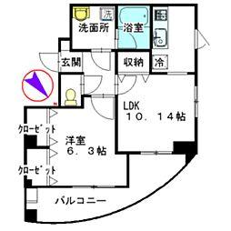 東京都葛飾区西新小岩1丁目の賃貸マンションの間取り