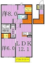 キャトルセゾンFG[2階]の間取り