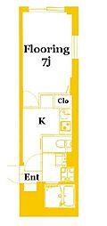 b'CASA Yokohama-Maita[4階]の間取り