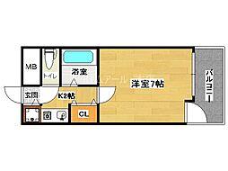 ピュアドームサクセス平尾[6階]の間取り