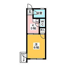 第2太田ハイツ[2階]の間取り