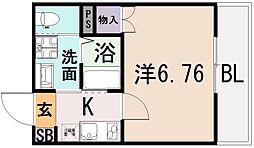 ルナ・ソレイユ近江堂[3階]の間取り