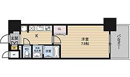プランドール新大阪SOUTHレジデンス 7階1Kの間取り