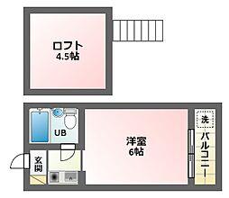 シティパレス21駒川中野[2階]の間取り