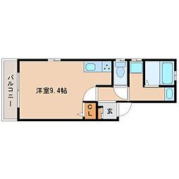 阪神本線 武庫川駅 徒歩11分の賃貸アパート 2階ワンルームの間取り