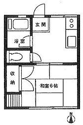 シティハイム千駄木[2階]の間取り