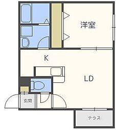 北海道札幌市東区北三十四条東14丁目の賃貸マンションの間取り