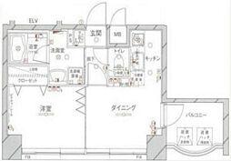 神奈川県横浜市西区桜木町4丁目の賃貸マンションの間取り