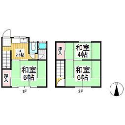 [テラスハウス] 長野県長野市三輪2丁目 の賃貸【長野県 / 長野市】の間取り
