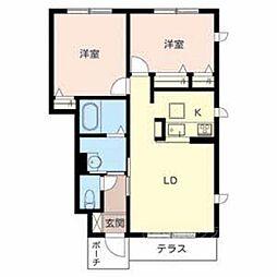 大阪府堺市美原区南余部の賃貸アパートの間取り