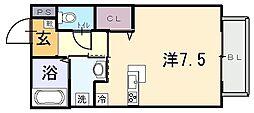 メゾンドゥ長瀬II[1階]の間取り