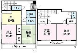 高島屋マンションII[0503号室]の間取り