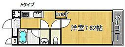 レジデンスK.I[2階]の間取り