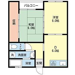 新潟県新潟市東区紫竹7丁目の賃貸マンションの間取り