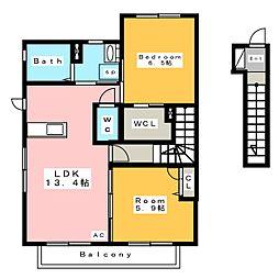 ユートピア東山 E棟[2階]の間取り