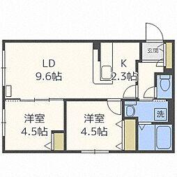 Luxe Maruyama[108号室]の間取り