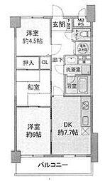 ライオンズマンション鶴ヶ島[3階]の間取り