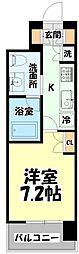 仙台市営南北線 北四番丁駅 徒歩10分の賃貸マンション 4階1Kの間取り