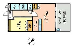 ヴァリー弐番館[1階]の間取り