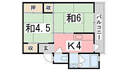 ビレッジハウス十王堂1号棟[2階]の間取り
