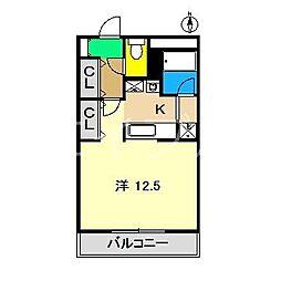 ユニティ二葉[5階]の間取り