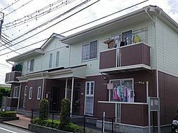 群馬県高崎市井野町の賃貸アパートの外観