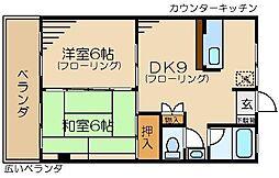 ベルゾーネマンション[304号室]の間取り