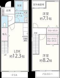 [タウンハウス] 佐賀県佐賀市兵庫北2丁目 の賃貸【/】の間取り