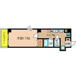 ラ・フォンテ恵美須[4階]の間取り