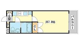 フローリッシュ飾磨B棟[105号室]の間取り