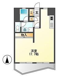 中駒九番団地8号棟[10階]の間取り