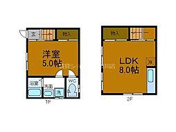 JR大阪環状線 大正駅 徒歩14分の賃貸一戸建て 1階1LDKの間取り