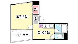 アド・モリモト花隈[801号室]の間取り
