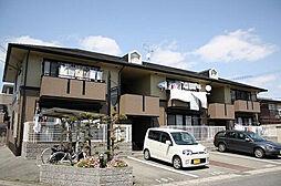兵庫県姫路市飾磨区英賀宮台の賃貸アパートの外観