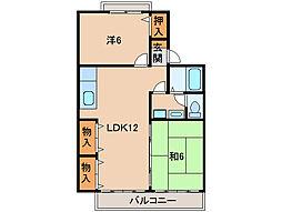 セジュール壱番館[2階]の間取り