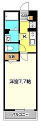 東京都国分寺市西町2の賃貸アパートの間取り