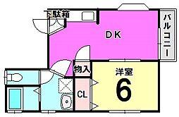 フレグランス・アキ 1[201号室]の間取り