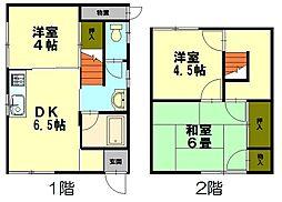 [一戸建] 北海道小樽市若竹町 の賃貸【北海道 / 小樽市】の間取り