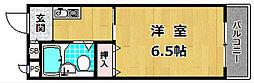 第3ミハマハイツ[4階]の間取り