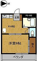 第3ハイツタマキ[314号室]の間取り