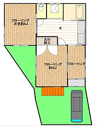 [一戸建] 神奈川県横浜市神奈川区羽沢南1丁目 の賃貸【/】の間取り