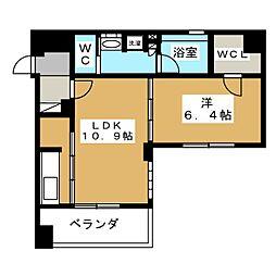 リーガル京都二条城東[9階]の間取り