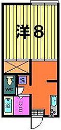 第二稲荷山ハイツ[A-1-C号室]の間取り