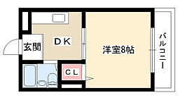 愛知県長久手市五合池の賃貸マンションの間取り