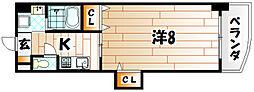 クレール花音[4階]の間取り