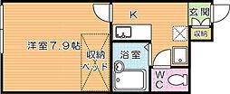 レオパレス赤坂 壱番館[1階]の間取り