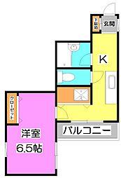 第八みずほ館[3階]の間取り