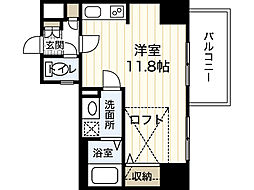 KatayamaBLDG26 6階ワンルームの間取り