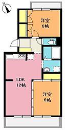 富士見グリーンコーポ[2階]の間取り