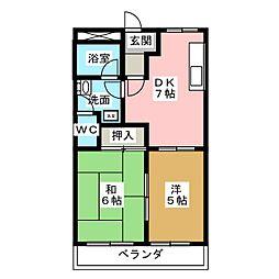 プリベールSKY[2階]の間取り